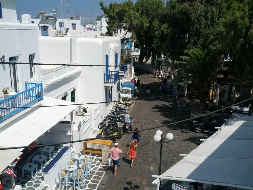 Utsikten från vårt hotell på Mykonos
