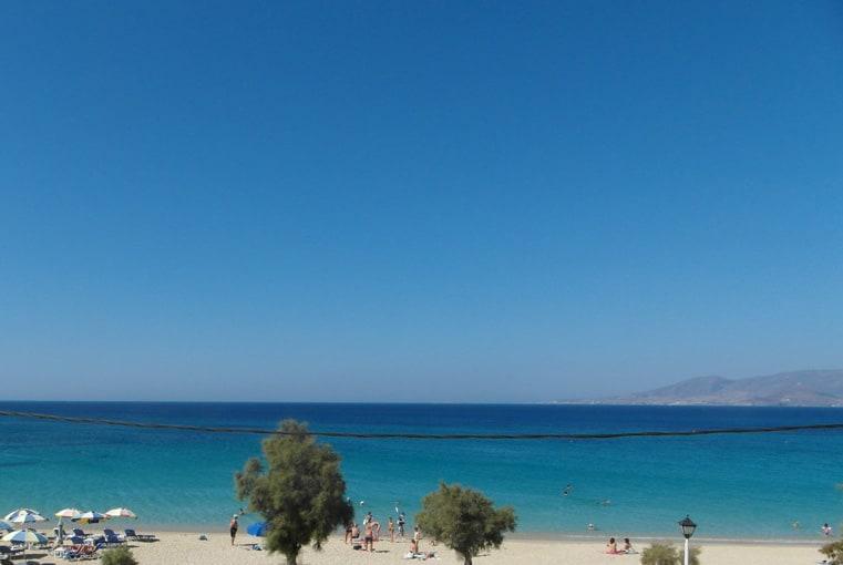 Utsikten från vårt hotell på Agios Prokopios