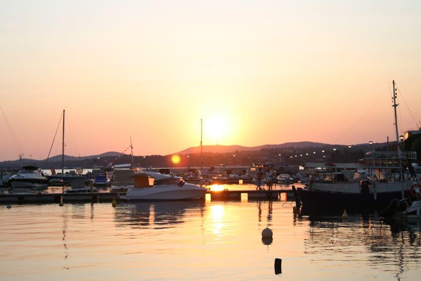 Solnedgång i Nikiti