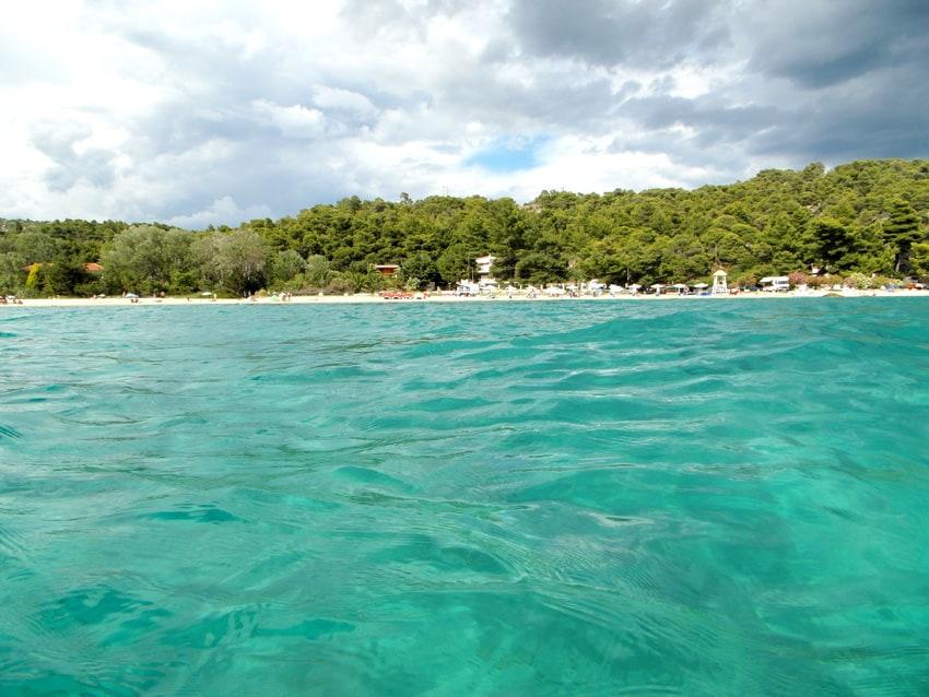 Kalogria beach, söder om Nikiti